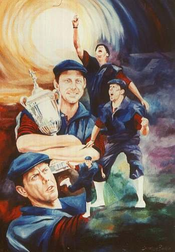 Payne Stewart hold the cup