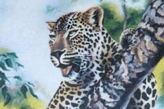 leopard in tree drawing