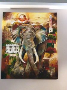 Elephant paintings at University of Alabama