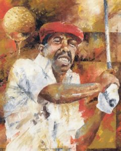 first black pga golf player sketch drawing