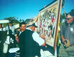 arnold palmer signs golf art painting