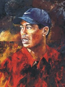 tiger woods art portrait painting