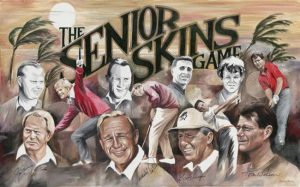 senior skins golf art drawing
