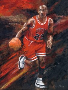 michael jordan art prints basketball painting