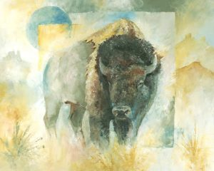 Bison Buffalo Art